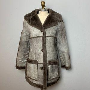 Vintage Abercrombie Shearling Coat